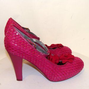 POETIC LICENCE MISS BETTY PINK SUEDE SHOES SIZE 9M